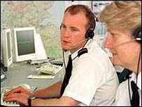 Coastguard control room