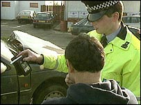 Driver breathalysed