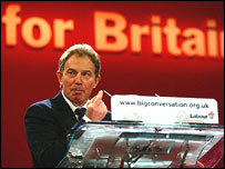 Tony Blair at conference