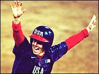 Dorothy Richardson celebrates victory in 2000