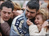 Friends and relatives of some of the victims
