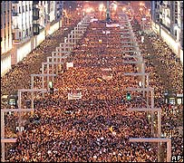 Marcha masiva en Madrid
