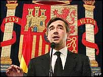 Ángel Acebes, ministro del interior de España.