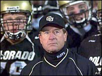 Colorado football coach Gary Barnett
