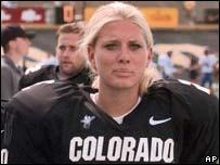 Former team member Katie Hnida