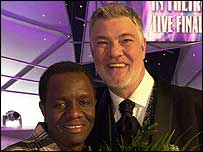 Matthew Kelly with Charles Ngandwe