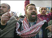 Shia protesters march through Baghdad, 19 January 2004