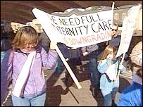 Protests at Neath Port Talbot Hospital