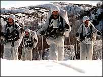 Marines on Arctic training