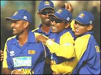Sri Lanka celebrate after Australia fall just short