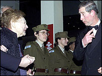 Nancy Wake is introduced to Prince Charles