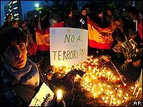 Manifestaciones en Espa�a despu�s de los atentados