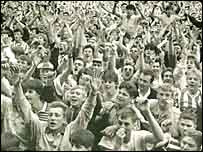 Fans at the Goldstone Ground, picture supplied by Brighton and Hove Albion FC