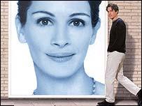 Detalle del afiche promocional de la película Notting Hill.