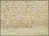 Shakespeare's will (National Archives)