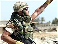Spanish soldier in Iraq