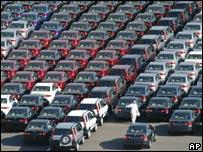 Carros japoneses para exportación.