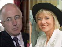 Foreign Office Minister Denis MacShane and newsreader Carol Barnes