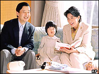 Crown Prince Naruhito, Crown Princess Masako and their daughter Aiko