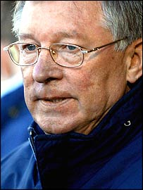 Alex Ferguson in serious mood