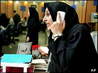 Election worker at the Iranian Interior Ministry