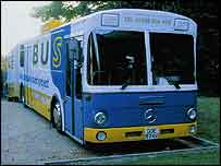 Photograph of the SOS Bus