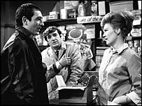 Ben Kingsley (left) in Coronation Street in 1966