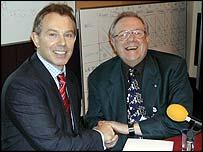 Tony Blair and BBC West Midlands presenter Ed Doolan