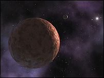 Artist's impression of Sedna, Nasa/JPL/Hunt