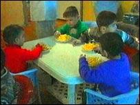 Children in an Azeri orphanage