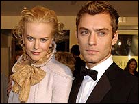 Jude Law pictured with Nicole Kidman