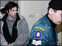 Bertrand Cantat at a previous court hearing