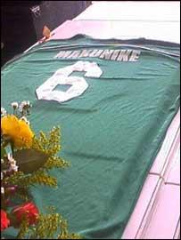 Blessing Makunike's coffin