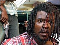 Aristide supporter