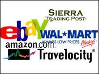 Online retailers' logos