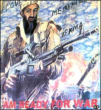 Osama Bin Laden poster in northern Nigeria