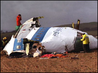 Lockerbie bombing wreckage