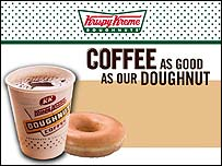 Krispy Kreme coffee and doughnut