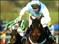 Hardy Eustace on his way to victory at Cheltenham