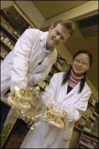 Dr Gerry O'Brien and Alice Wang are seeking fresher farls