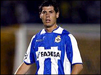 Deportivo striker Albert Luque