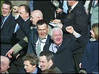 Punters celebrate a win at Cheltenham