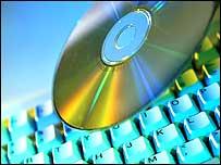 CD on a keyboard