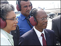 Mr Aristide and his wife in Jamaica