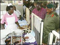 Museveni at Lira Hospital
