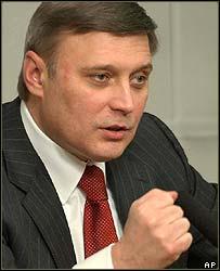 Sacked Prime Minister Mikhail Kasyanov