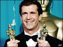 Mel Gibson at the Oscars