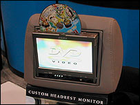 Audiovox DVD headrest