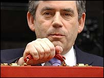 Gordon Brown ahead of his Budget speech