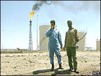 Basra oil refinery in southern Iraq